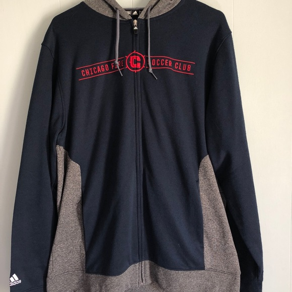 637a35f85 Adidas Chicago Fire FC Fleece Jacket